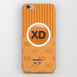 Orange Writer's Mood iPhone Skin