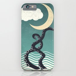 The octopus and the sea II (a lullaby) iPhone Case