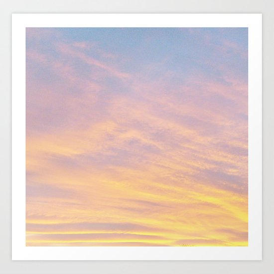 Blue Rose Yellow Sunrise Art Print
