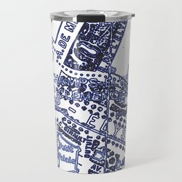 Blue Print Thoughts of Paris Travel Mug
