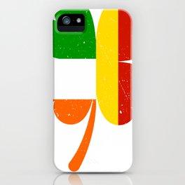 German Irish Flag Shamrock St Patricks Day iPhone Case