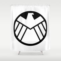 agents of shield Shower Curtains featuring SHIELD by Merioris