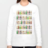 beer Long Sleeve T-shirts featuring BEER by BearandBugle