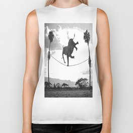 The elephant on the tightrope Biker Tank