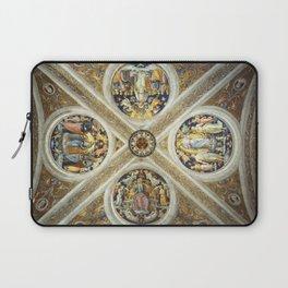 """Raffaello Sanzio da Urbino """"Ceiling of the Stanza della Segnatura"""", 1508-1511 Laptop Sleeve"""