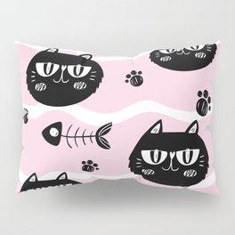Cat and bones Pillow Sham