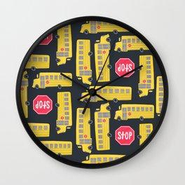 Bus Pattern Wall Clock