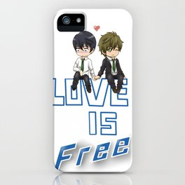 Love is Free iPhone Case