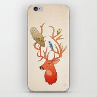 antlers iPhone & iPod Skins featuring Antlers by Jonathan Sims