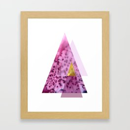 Bloom Abstract Geometry Framed Art Print