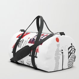 Letters Drawing Duffle Bag