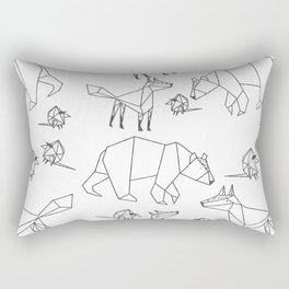 Geometric Animals Pattern Rectangular Pillow