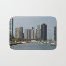 Chicago Shoreline, Skyline, Lake Michigan Bath Mat