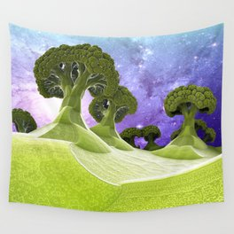 Broccoli Planet Wall Tapestry