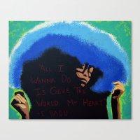 erykah badu Canvas Prints featuring Afro Blue: Erykah Badu by Artistik Rebel Creative