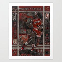 M Jordan Art Print