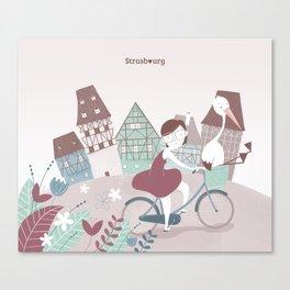 Strasbourg je t'aime Canvas Print