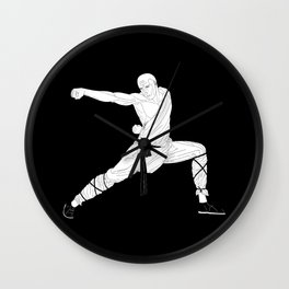 Monk warrior Wall Clock