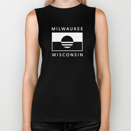 Milwaukee Wisconsin - White - People's Flag of Milwaukee Biker Tank