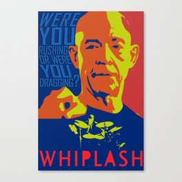 Whiplash Colorful Poster Canvas Print