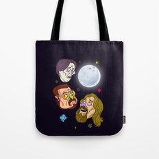 3 DUDE MOON Tote Bag