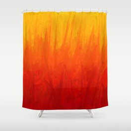 Fire and Liquid Sunshine Shower Curtain