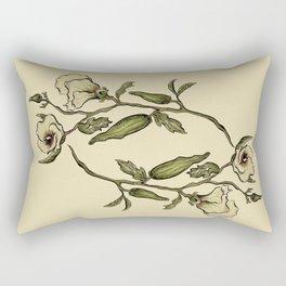 Botanical Okra Rectangular Pillow