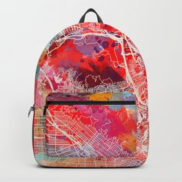 Glendale map California painting 2 Backpack