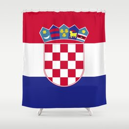 Croatia flag emblem Shower Curtain