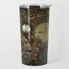 Steampunk Clocks Travel Mug