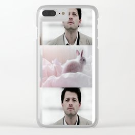 castiel + bunnies aesthetic Clear iPhone Case