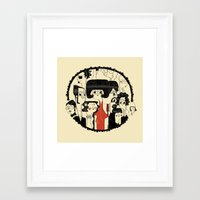 it crowd Framed Art Prints featuring Crowd by Pigologist