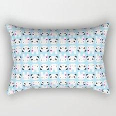 Super Cute Kawaii Bunny and Panda Rectangular Pillow