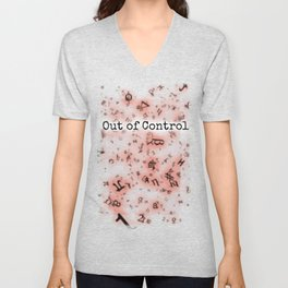 Out of Control [Red] Unisex V-Neck