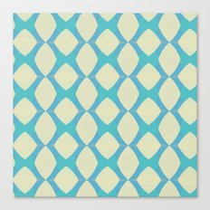 Abstract Diamonds in Blue Canvas Print