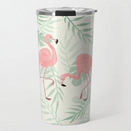 Flamingo Love Tropical Travel Mug