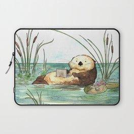 Otter on a Laptop Laptop Sleeve