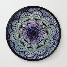 Mandala Violet Wall Clock