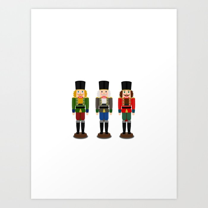 Christmas Cards To Print.Nutcracker Christmas Cards Art Print By Iamwinder