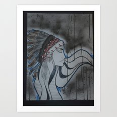 Indian. Art Print