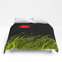 A red flower Comforters