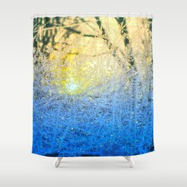 Ice Forest Sunset Shower Curtain