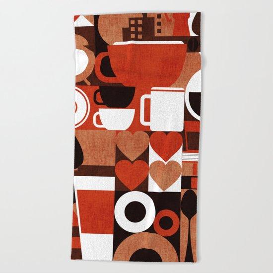 Coffee Story Beach Towel