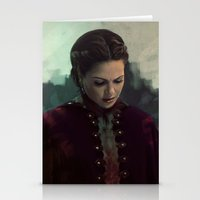 regina mills Stationery Cards featuring Young Regina by LindaMarieAnson