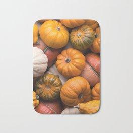 Pumpkins background Bath Mat