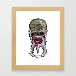 Heads of the Living Dead Zombies: Weird Beard Zombie Framed Art Print