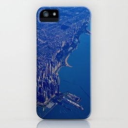 Chicago By Air No. 1: The Lakeshore from Downtown to Evanston iPhone Case