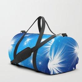 Christmas star advent blue background Duffle Bag