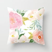 Throw Pillows featuring Floral 02 by creative index