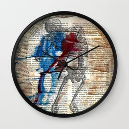 Vesalius mourning skeleton Wall Clock